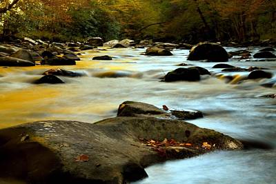 Autumn Cascades In The Smoky Mountains Poster by Dan Sproul