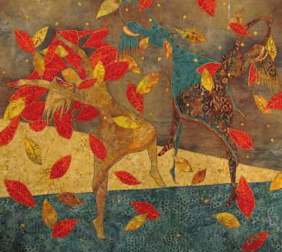 Autumn Dance Poster by Lynda K Boardman