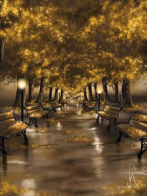 Autumn Evening Poster by Veronica Minozzi
