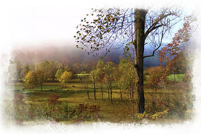 Autumn Farm Poster by Debra and Dave Vanderlaan