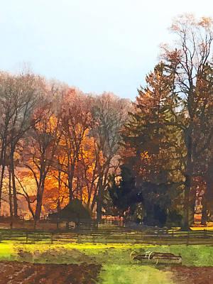 Autumn Farm With Harrow Poster by Susan Savad