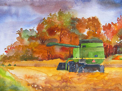 Autumn Harvest Poster by James Huntley