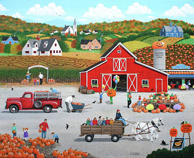 Autumn Harvest Poster by Wilfrido Limvalencia
