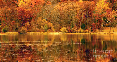 Autumn In Mirror Lake Poster by Paul W Faust -  Impressions of Light