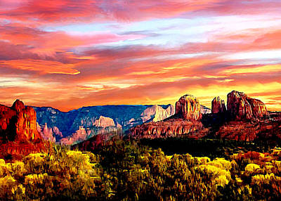 Autumn In Red Rock State Park Poster by Bob and Nadine Johnston