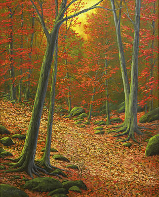 Autumn Leaf Litter Poster by Frank Wilson