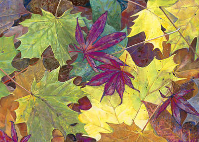 Autumn Maple Leaves Poster by Nick Payne