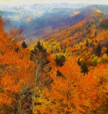 Autumn On Fire In The Mountains Poster by Dan Sproul