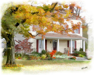 Autumn On The Farm Poster by Bill Losey