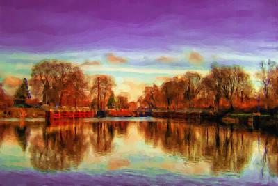 Autumn Park Poster by Ayse Deniz