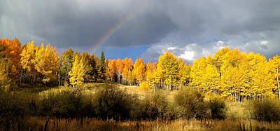Autumn Rainbow Poster by Bob Berwyn