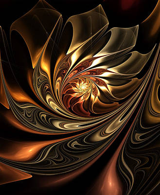Autumn Reverie Abstract Poster by Georgiana Romanovna