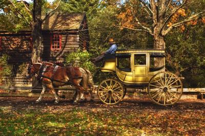 Autumn Ride Poster by Joann Vitali