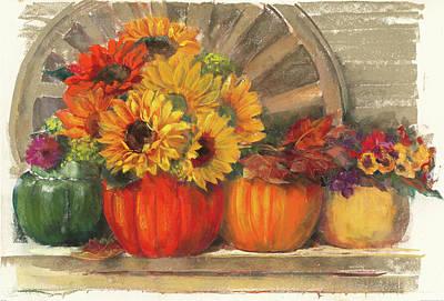 Autumn Still Life Poster by Carol Rowan