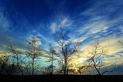 Autumn Sunset Poster by Bill Caldwell -        ABeautifulSky Photography