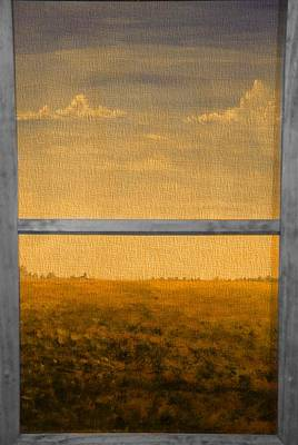 Autumn Through The Window Poster by Dan Sproul