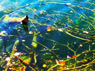 Autumn Water Poster by Menega Sabidussi