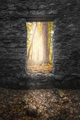 Autumn Within Long Pond Ironworks - Historical Ruins Poster by Gary Heller