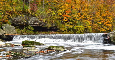 Autumnal Panorama Poster by Frozen in Time Fine Art Photography