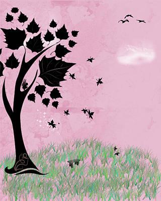 Autumn's Kiss Poster by Rhonda Barrett