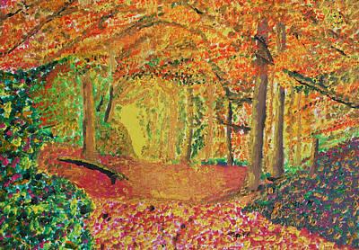Autumn's Light Poster by Harold Greer