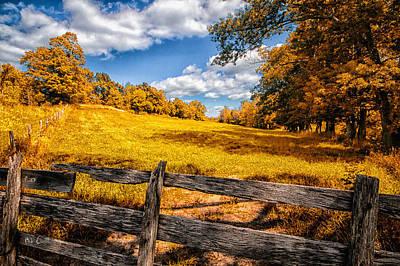 Autumns Pasture Poster by Bob Orsillo