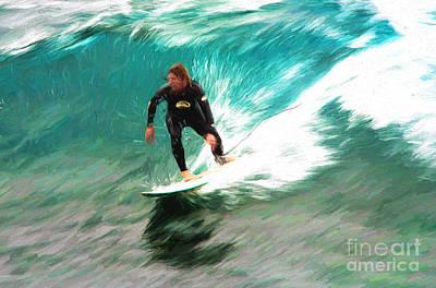 Avalono Surfer Poster by Avalon Fine Art Photography