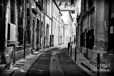 Avignon Empty Street Poster by John Rizzuto