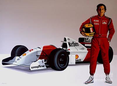 Ayrton Senna Poster by Paul Meijering