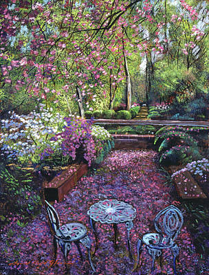 Azaleas And Cherry Blossoms Poster by David Lloyd Glover