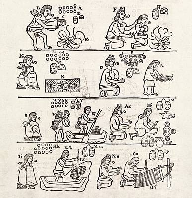 Aztec Customs Poster by Middle Temple Library