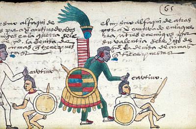 Aztec Warrior Priest And Prisoner Poster by Granger