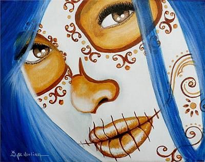 Azul Se Ilumina Mi Mundo Poster by Al  Molina