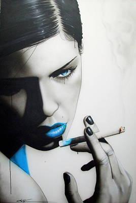 Portrait - ' Azure Addiction ' Poster by Christian Chapman Art