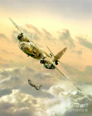 B-26 Bomber Poster by Tony Pierleoni