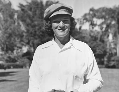 Babe Didrikson Portrait Poster by Underwood Archives