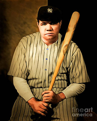 Babe Ruth 20141220 Brunaille Poster by Wingsdomain Art and Photography