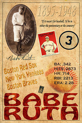 Babe Ruth Poster by Andrew Fare