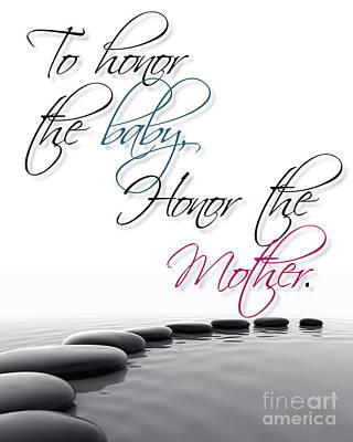 Baby And Mother Poster by Liesl Marelli