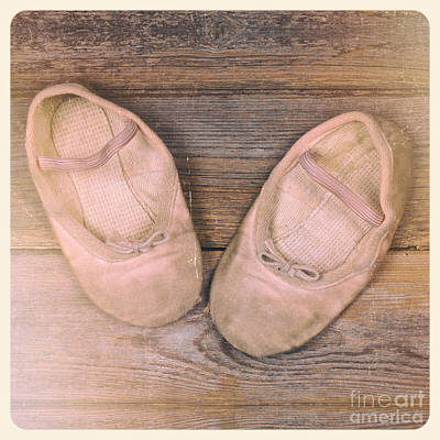 Baby Ballet Shoes Instant Photo Poster by Jane Rix