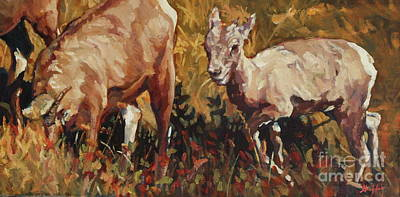 Baby Big Horn Poster by Patricia A Griffin