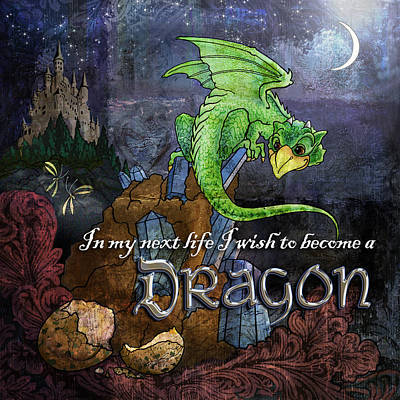 Baby Dragon Poster by Evie Cook