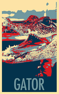 Baby Gator In Hope Poster by Rob Hans