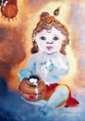 Baby Krishna Poster by Ayasha Loya Aka Pari  Dominic