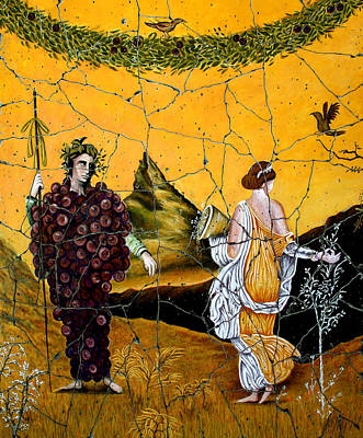 Bacchus And Flora - Study No. 1 Poster by Steve Bogdanoff