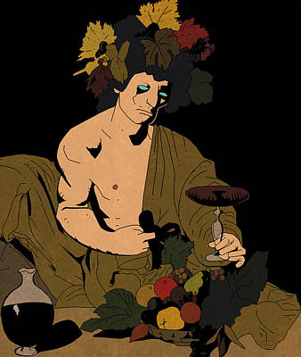 Bacchus And Mignola Poster by Leo Petrov