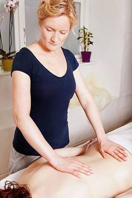 Back Massage Poster by Thomas Fredberg