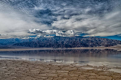 Badwater Reflection Poster by Cat Connor