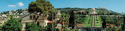 Bahai Temple On Mt Carmel, Haifa, Israel Poster by Panoramic Images