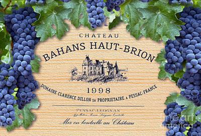 Bahans Haut Brion Poster by Jon Neidert